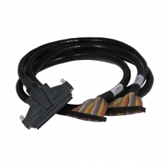 Cable Assy 100-Pin SCSI Micro-D to 50-Pin Ribbon F-F 0.5m - 40-971-100-0.5m-FF