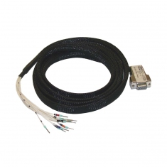 Cable Assy 9-Pin D-type F/Unterm. 0.5M, 40-972-009-0.5m-FU