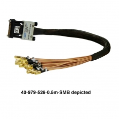 MS-M 26-Pin RF Cable to SMB, 0.5m - 40-979-526-0.5m-SMB