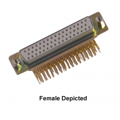 50-Pin D-Conn Male Right Angle PCB - 40-963-050-RM