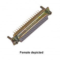 50-Pin D-Conn Male Straight PCB, HV - 40-963-050-SM-HV