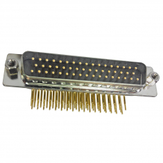 50-Pin D-Conn Female Right Angle PCB,HV - 40-963-050-RF-HV