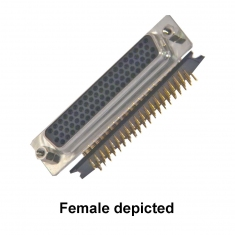 78-Pin D-type Male Right-Angle PCB - 40-963-078-RM