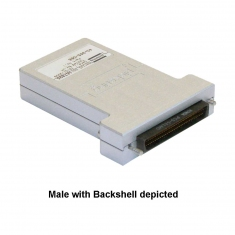 68-Pin SCSI Style Micro-D Connector Block with Backshell, Screw Terminal, Female, 40-965-068-F