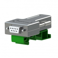 9-Pin D-type Female Connector Block, DIN - 40-967-009-F