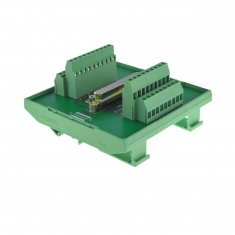 37-Pin D-type Breakout Female DIN mount - 40-967-037-F