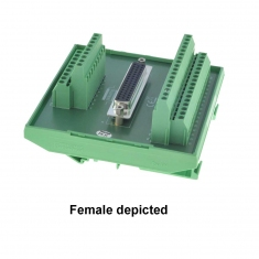 50-Pin D-type Breakout Male DIN mount - 40-967-050-M