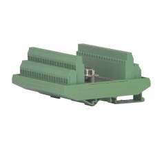 78-Pin D-type Male Breakout DIN Rail - 40-967-078-M