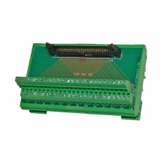 50-Pin Ribbon Breakout DIN Rail Mount - 40-967-550-M