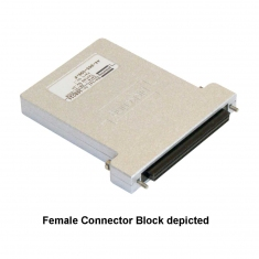 96-Pin SCSI Style Micro-D Connector Block with Backshell, Screw Terminal, Male, 44-965-096-M