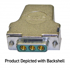 3-Pin 40A Power D Submin without Backshell, Solder Bucket - 92-960-003-F