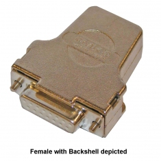 15-Pin Female D-Type Connector without Backshell, Solder Bucket, 92-960-015-F