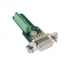 9-Pin D-Type Female Connector Block without Backshell, Screw Terminal, 92-965-009-F