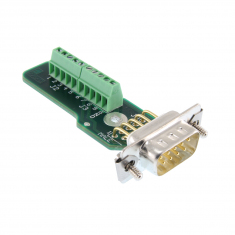 9-Pin D-Type Male Connector Block without Backshell, Screw Terminal, 92-965-009-M