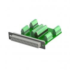 37-Pin Female Connector Block without Backshell, Screw Terminal, 92-965-037-F