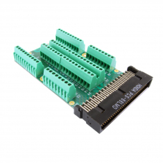 68-Pin SCSI Style Micro-D Connector Block without Backshell, Screw Terminal, Male, 92-965-068-F