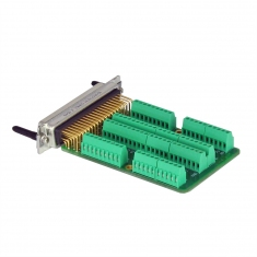 78-Pin Female D-type Connection Block without Backshell, Screw Terminal, 92-965-078-F