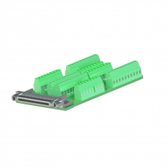 68-Pin VHDCI Connector Block, Female Without Backshell - B068VFX-6F-0A