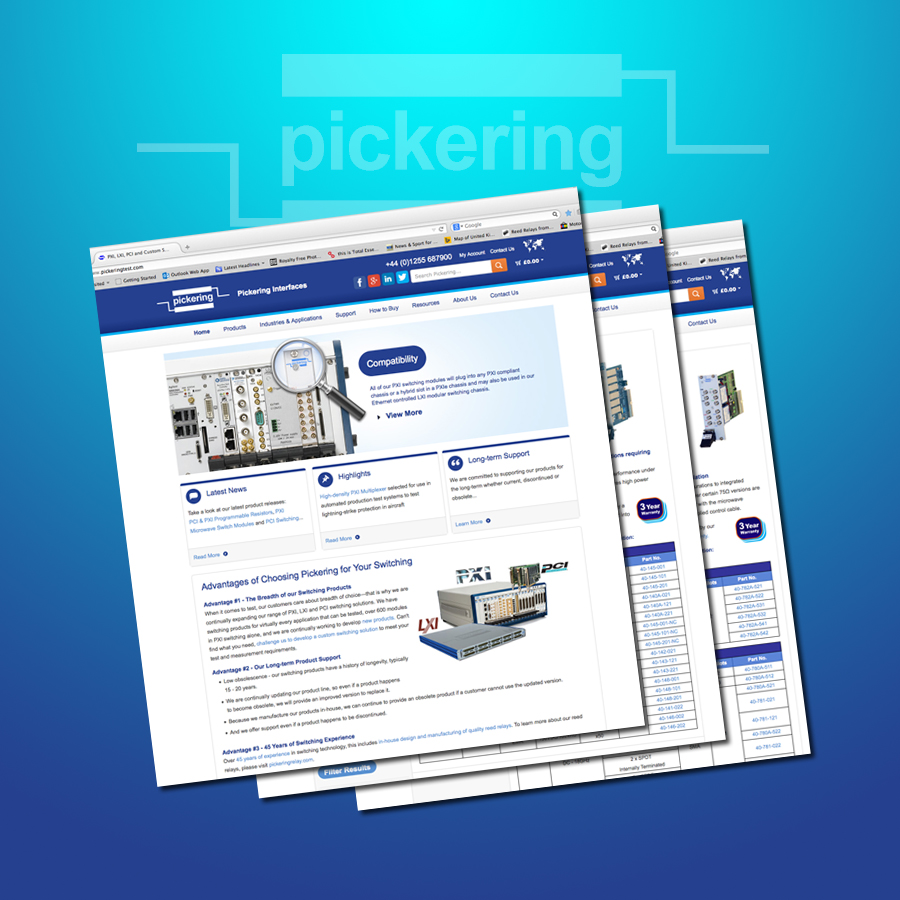 Pickering announces launch of new company website