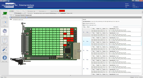 eBIRST Switching System Test Tools software screen shot