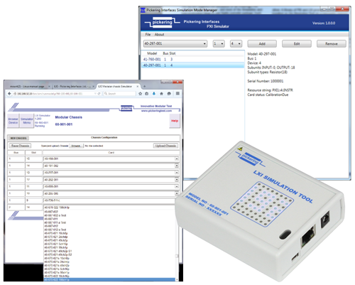 Pickering's PXI & LXI Simulation Tools