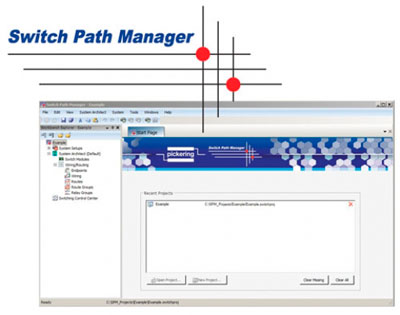 Pickering Interfaces' signal routing software - Switch Path Manager