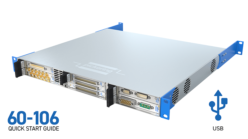 6-slot LXI/USB Chassis (60-106) for USB
