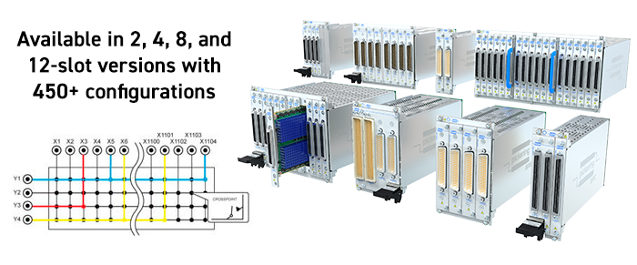 Pickering's BRIC - Scalable High-Density PXI Matrices and Multiplexers