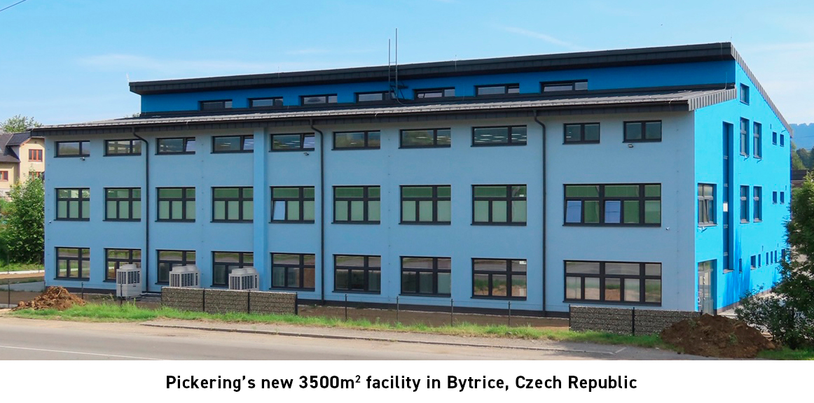 Pickering 3500m2 Bytrice, Czech Republic manufacturing facility
