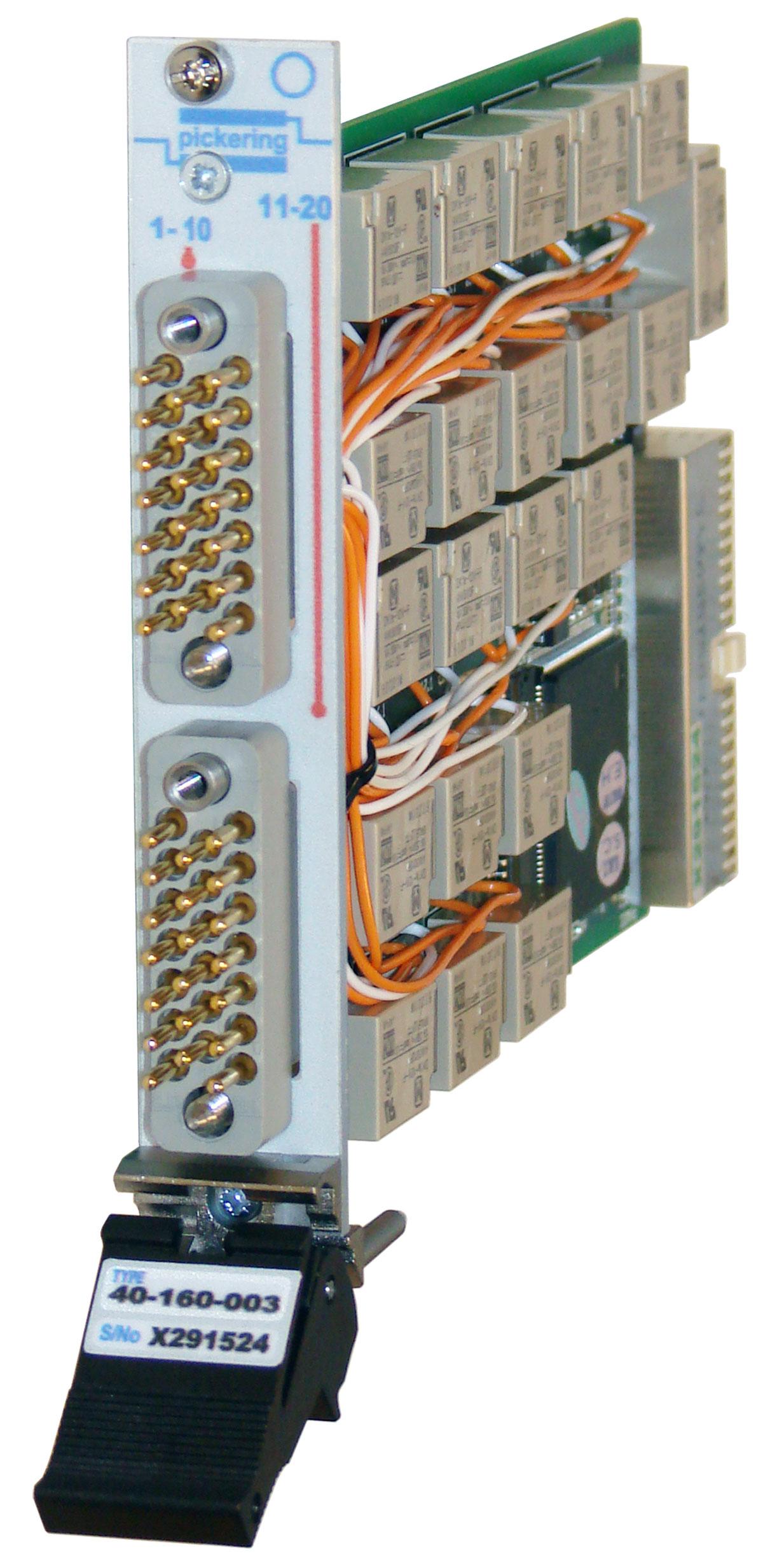 PXI 20 x SPST 10 Amp Power Relay Module - 40-160-003