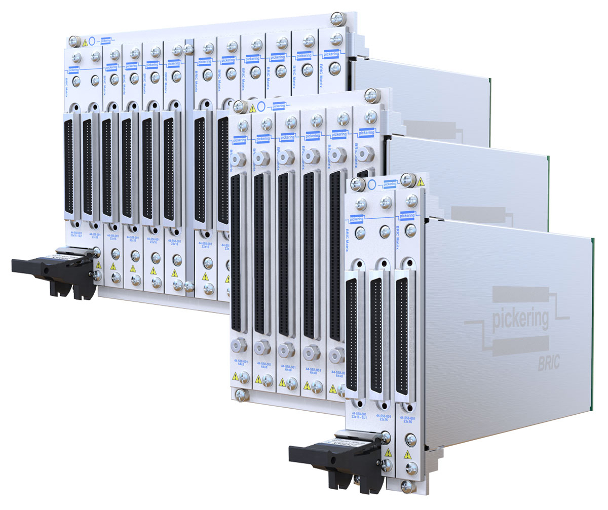 Pickering's BRIC PXI Ultra-high-density PXI switch matrix modules