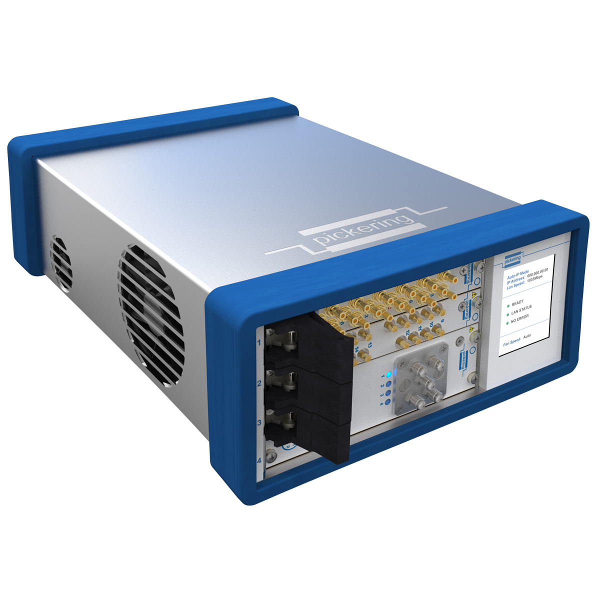 4-slot USB/LXI Modular Chassis from Pickering Interfaces