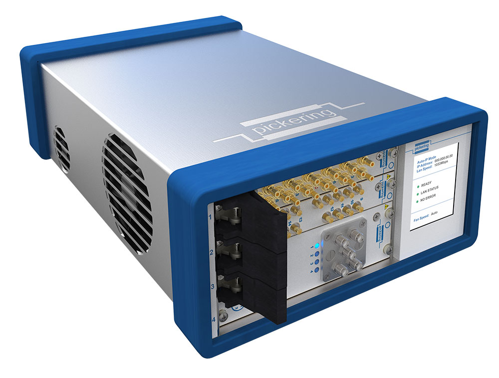 4-slot LXI/USB Chassis with optional WiFi dongle