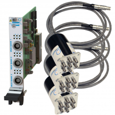 PXI Remote Mount Triple 6-Channel RF MUX 50GHz 50 Ohm SMA Terminated - 40-785B-553-TE
