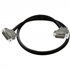 Cable Assy 15-Pin D-Type M/M 1m - 40-970-015-1m-MM