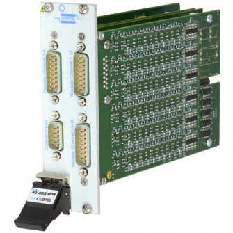 3U PXI module that supports 6 (in one slot) or 18 (in two slots) channels of RTD simulation