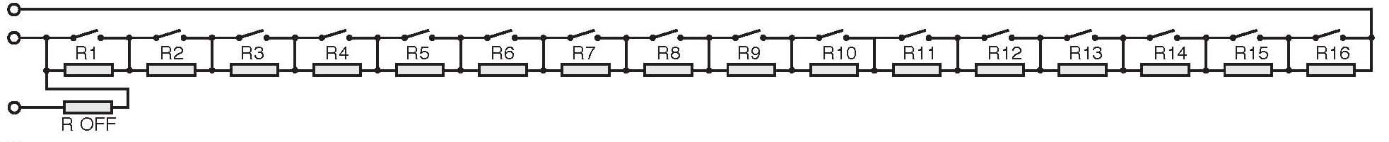Diagram of a binary resistor chain on 40-290 series