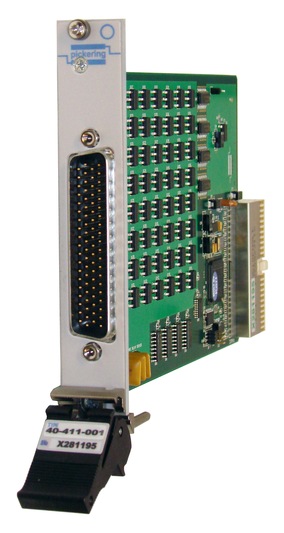 Front panel of PXI card 40-411