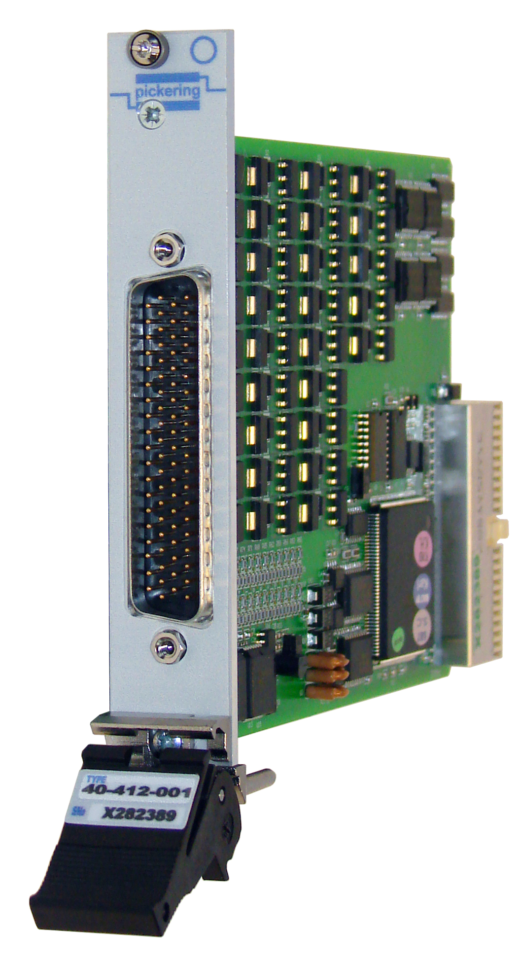 Front panel of PXI card 40-412