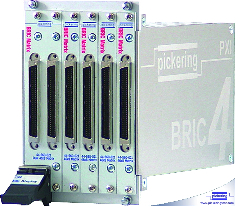 Front view of BRIC showing user connectors