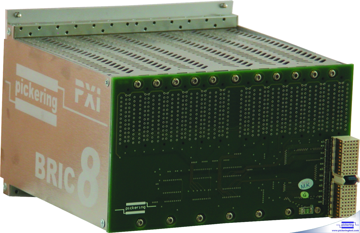 Rear view of a BRIC module, the connector on the right is the connector that plugs into the PXI backplane