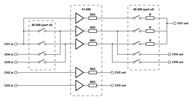 41-650 Diagram with channels in parallel