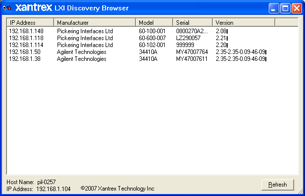 LXI Discovery Browser