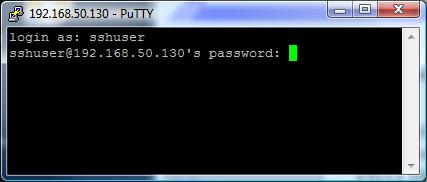 Screenshot of LXI login console