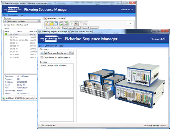 Pickering Sequence Manager screenshot